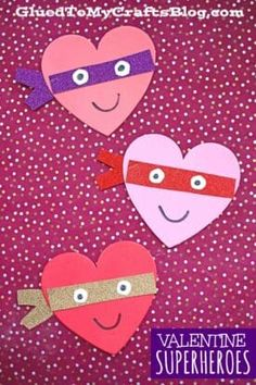 Valentine Art Project Ideas Using Craft Foam Hearts - Glued To My Crafts Valentines Art For Kids, Valentine Crafts For Kids, Valentines Day Party, Holiday Crafts, Valentine Ideas, Christmas Art Projects, Heart Projects, Craft Foam, Foam Crafts