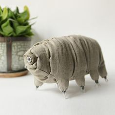 Biology Art, Tardigrade, Mystical Animals, Science Jewelry, Science Gifts, Toy Craft, Cute Diys, Plush Animals, Soft Sculpture