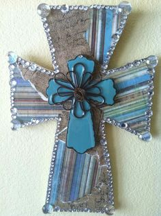 Handmade Wooden Cross with Stripes by TheGivingButterfly on Etsy, $32.00