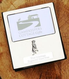 Meerkat Design Silver Personalised Photo Album FREE ENGRAVING 100 Photos