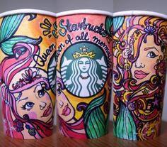 Copos pintados com STABILO, by Natalia Jura. (Foto: www.pinterest.com/StabiloPL)