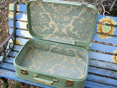 green vintage suitcase - Google Search