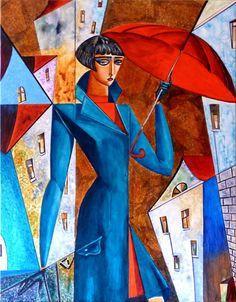 """ Rainy Day "" Acryl 60 x 80 cm"