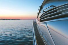 A new responsive look for SYM Superyacht Management Pershing Yachts, Luxury Yachts, Waves, Exterior, Sunset, Building, Private Jets, Cruise Ships, Outdoor