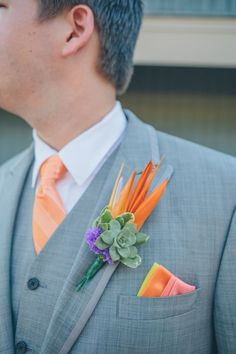 birds of paradise theme - san diego bride, purple and orange flowers, marina village, san francisco wedding by destination wedding photographers forte photography based in st louis