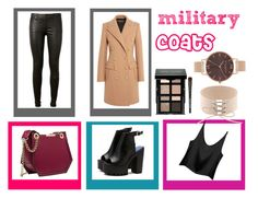 milytary coats by topemma on Polyvore featuring polyvore, fashion, style, Balmain, AG Adriano Goldschmied, Olivia Burton, Bobbi Brown Cosmetics and clothing
