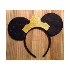 Black Princess Aurora Crown Mouse Ears by ShopHouseOfMouse on Etsy, $26.00