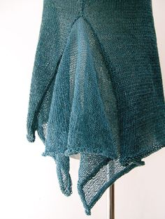 Very cool shear knitted gussett Ruby cocoknits
