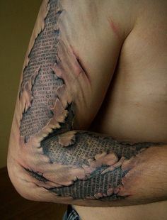 This is probably the most amazing scripture tattoo ever!!