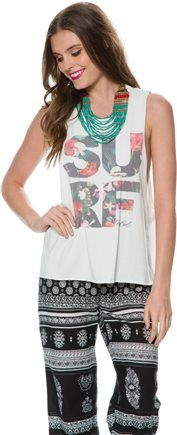 SURF. http://www.swell.com/New-Arrivals-Womens/RIP-CURL-BRIGHTSIDE-MUSCLE-TEE?cs=WH