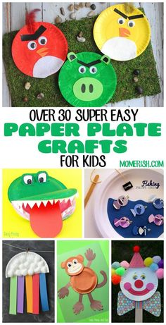 These super easy paper plate crafts for kids will keep your little ones busy! Use these in preschool classrooms for fun activities too! via /keciahambrick/ Paper Plate Art, Paper Plate Crafts For Kids, Craft Projects For Kids, Crafts For Kids To Make, Arts And Crafts Projects, Paper Plates, Art For Kids, Craft Activities, Preschool Crafts