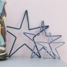 Grande étoile en laine, sur la boutique en ligne du Petit Florilège