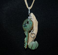 This necklace was made with natural by DriftwoodDaydreamer on Etsy, $35.00