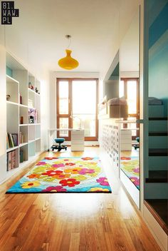 81.WAW.PL designed this children's bedroom in a home in Warsaw, Poland