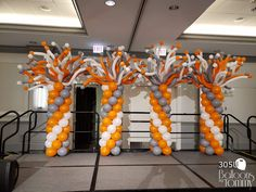 Take your next party, holiday, or company event to new heights with balloon decor! We decorate the areas surrounding Chicago, IL and Los Angeles, CA. Balloon Tower, Balloon Backdrop, The Balloon, Dance Decorations, Birthday Balloon Decorations, 70th Birthday Parties, Themed Parties, Birthday Brunch, Ballon Column
