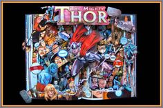 The Mighty Thor - Graphic Novel Book Sculpture - Altered Book - Shadowbox FRAMED on Etsy, $200.00