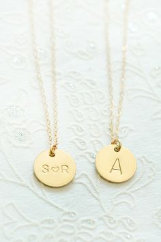 Bridesmaid gift idea! Personalized necklaces from @limonbijoux. #wcriseandshine