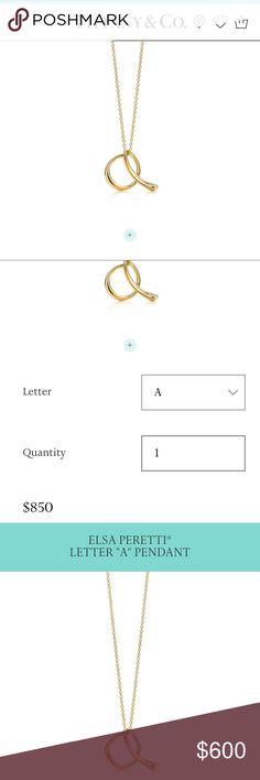 Elsa Peretti Letter J Pendant  Letter Pendants Small Letters