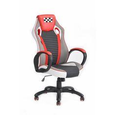 Aingoo Gaming Jefe Silla de Oficina con brazos con almohadillas de tela de Moda Silla de Altura Del Asiento Ajustable de 360 Grados de Rotación de la Rueda