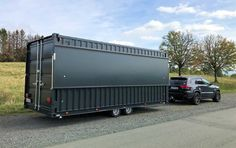 NEU: Verkaufswagen CONTRAILER - Seecontainer als PKW-Anhänger Iso Container, Container Shop, Shipping Container Cafe, Container Restaurant, Mobile Food Trucks, Container Architecture, Car Trailer, Food Containers, Deck
