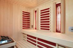 Inneneinrichtung Sauna Optima mit Sole-Therme Garage Doors, Wellness, Outdoor Decor, Home Decor, Interior, Homemade Home Decor, Decoration Home, Interior Decorating