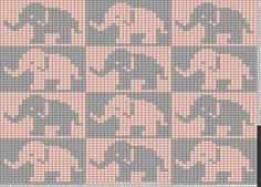 Tricksy Knitter Charts: baby girl elephant blanket by rhiasmith123