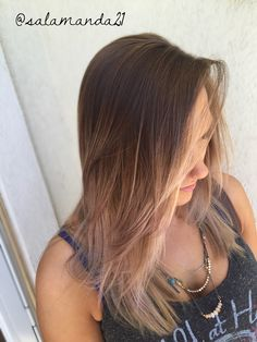 Gorgeous high contrast blended edgy balayage ombré done by me Manda Halladay @salamanda21