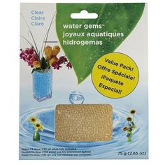 Use water gems to keep your plants alive and your flowers vibrant! These super absorbent polymer gems expand when water is added. Great for fresh cut flowers, they can be used as a soil substitute for growing plants, as a candle accent, or alone as an intriguing focal point.