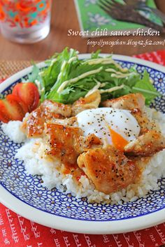 Sweet Chili Sauce Chicken With Rice Whole Chicken Recipes Oven, Marinated Chicken Recipes, Indian Chicken Recipes, Asian Recipes, Healthy Recipes, Caprese Chicken, Salsa Chicken, Salads, Gastronomia