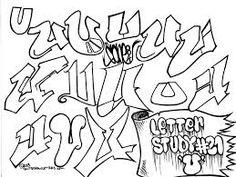 Graffiti Letter Study U