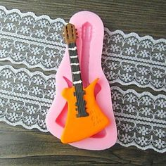 qinxi Guitar Fondant Cake Chocolate Resin Clay Candy Silicone Mold,L10.6m*W5.3cm*H0.9cm >>> Can't believe it's available, see it now : Candy Making Supplies