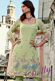 Serene Chiffon Embroidered Salwar Suit