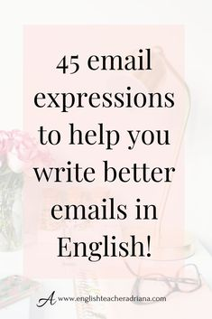 45 Useful Email Expressions you need to know! Write better emails in English by using these 45 useful email expressions. Click the link below to watch the full video lesson English Speaking Skills, English Writing Skills, Learn English Grammar, Learn English Words, English Phrases, English Language Learning, English Vocabulary, Teaching English, Writing Tips