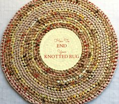 How to end a toothbrush rug Four Eleven Rox: THE END...of a rug