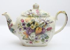 Windsor China England Tea Pot Floral Bouquet | the Teapots Collectionary