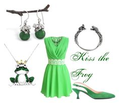 """""""Dancing Frog Princess"""" by jenny-jumper on Polyvore featuring Natures Jewelry, Target and Prada"""