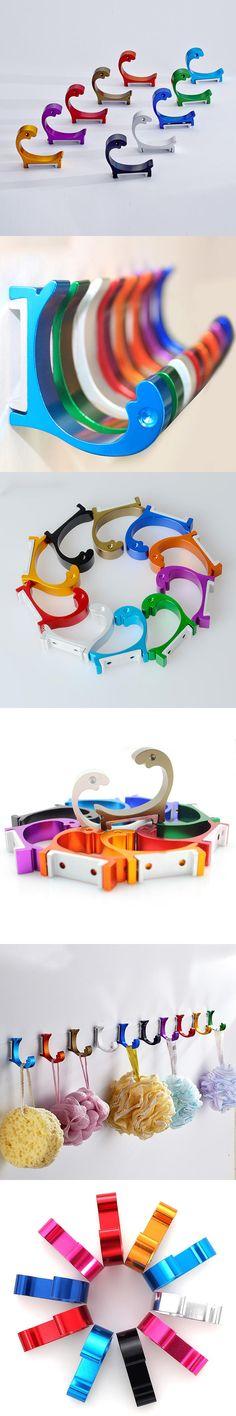 New Candy Color Decorative Wall hooks& racks,Clothes hook & Metal & Towel & coat&Robe hook.Bathroom Accessories