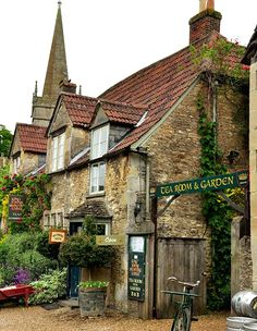 Lacock, England (also known as Harry Potter's hometown.)