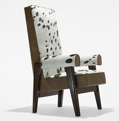 "Le Corbusier & Pierre Janneret ""Judge's armchair from the High Court, Chandigarh"" c.1955"