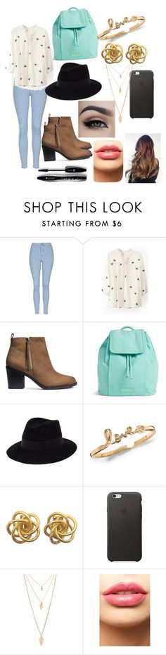 """""""Untitled #102"""" by pinguinqueen ❤ liked on Polyvore featuring Topshop, H&M, Vera Bradley, Maison Michel, Forever 21, LASplash, Lancôme, women's clothing, women and female"""