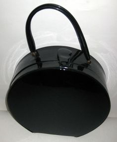 Round Patent Leather Hatbox Purse - Quirky Finds Vintage