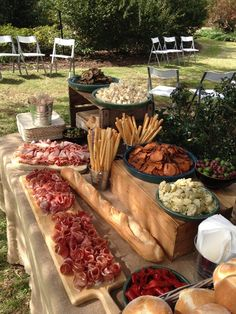 Grazing Station Food station Grazing table - My WordPress Website Add a grazing food station to wow your guests. Appetizer table- Sandwiches, roll ups, Wings, veggies, frui Food stations are the way to go for a laid back casual dinner Chef and I Catering Appetizers Table, Wedding Appetizers, Wedding Appetizer Table, Appetizer Table Display, Buffet Wedding, Pizza Wedding, Wedding Food Bars, Party Food Buffet, Wedding Reception Food