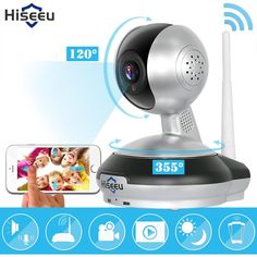 Wireless Security HD Camera WiFi IP Baby Monitor Clear Two-way Audio Voice