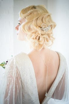 Bridal Back Necklace by ChezBec on Etsy