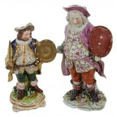 A DERBY MODEL OF SIR JOHN FALSTAFF, CIRCA 1770, 25CM HIGH; AND ANOTHER SMALLER