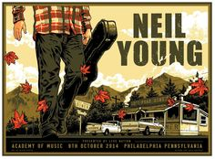 Neil Young Philadelphia poster by Blair Sayer