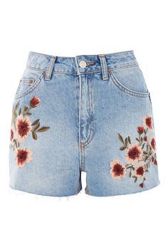 MOTO Blossom Embroidered Mom Jeans