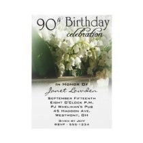 90th Birthday Party Invitations