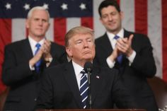 President Trump plowed through a long list of issues facing his presidency and raised in news media during a de facto State of the Union…