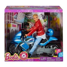 Barbie Pink Passport Ken Doll with Motorcycle - Poupée - Achat & prix Barbie Car, Barbie Doll Set, Doll Clothes Barbie, Barbie Doll House, Beautiful Barbie Dolls, Ken Doll, Barbie Dream, Barbie Pink Passport, Original Barbie Doll